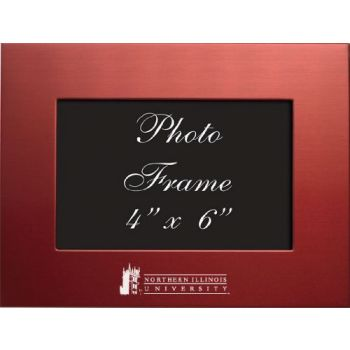Northern Illinois University - 4x6 Brushed Metal Picture Frame - Red