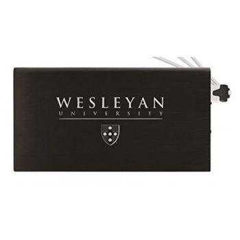 8000 mAh Portable Cell Phone Charger-Wesleyan University -Black