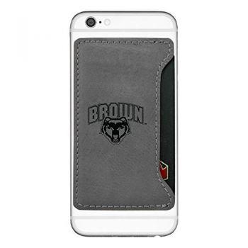 Brown University-Cell Phone Card Holder-Grey