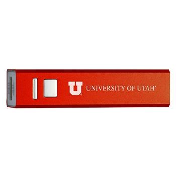University of Utah - Portable Cell Phone 2600 mAh Power Bank Charger - Red