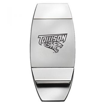 Towson University - Two-Toned Money Clip - Silver