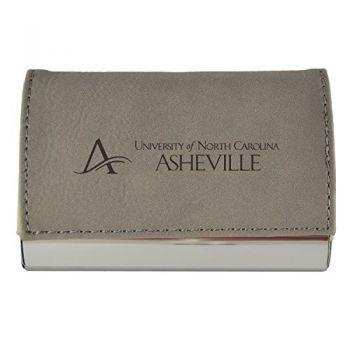 Velour Business Cardholder-University of North Carolina at Asheville-Grey