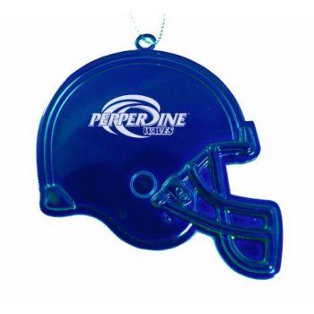 Pepperdine University - Chirstmas Holiday Football Helmet Ornament - Blue