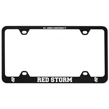 St. John's University -Metal License Plate Frame-Black