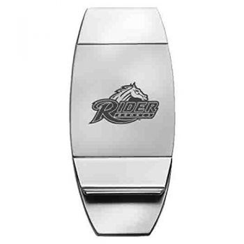 Rider University - Two-Toned Money Clip - Silver
