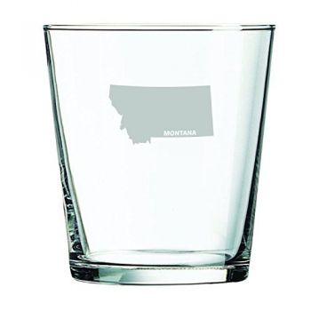 13 oz Cocktail Glass - Montana State Outline - Montana State Outline
