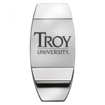 Troy University - Two-Toned Money Clip - Silver