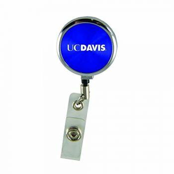 University of California, Davis-Retractable Badge Reel-Blue