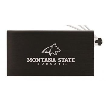 8000 mAh Portable Cell Phone Charger-Montana State University -Black