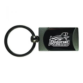 Duquesne University -Two-Toned Gun Metal Key Tag-Gunmetal