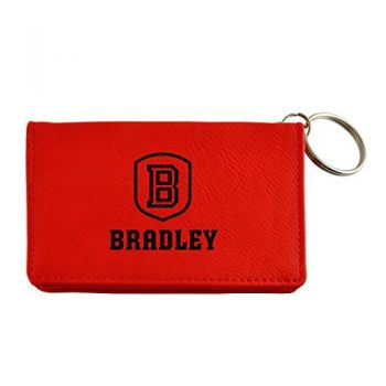 Velour ID Holder-Bradley University-Red