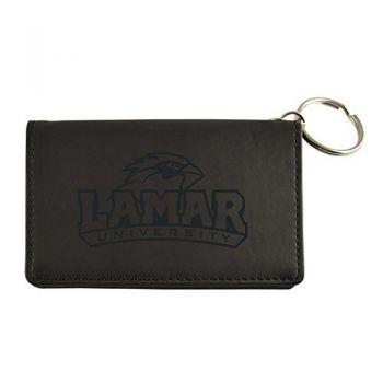 Velour ID Holder-Lamar University-Black