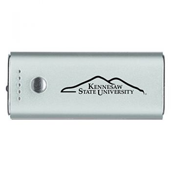 Kennesaw State University -Portable Cell Phone 5200 mAh Power Bank Charger -Silver