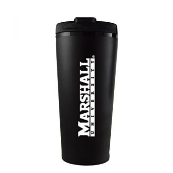 Marshall University -16 oz. Travel Mug Tumbler-Black