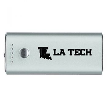 Louisiana Tech University -Portable Cell Phone 5200 mAh Power Bank Charger -Silver
