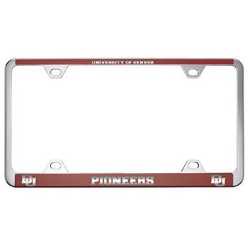 University of Denver-Metal License Plate Frame-Red