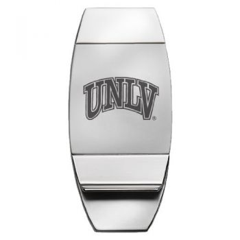 University of Nevada, Las Vegas - Two-Toned Money Clip - Silver