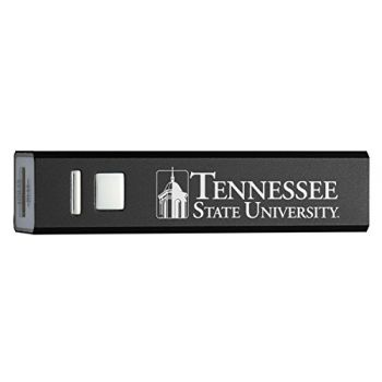 Tennessee State University - Portable Cell Phone 2600 mAh Power Bank Charger - Black
