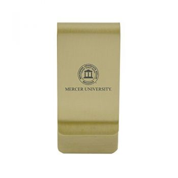 University of Memphis|Money Clip with Contemporary Metals Finish|Solid Brass|High Tension Clip to Securely Hold Cash, Cards and ID's|Silver