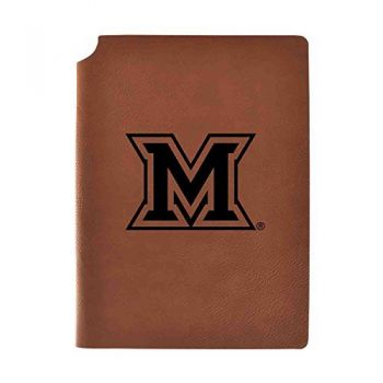 Miami University Velour Journal with Pen Holder|Carbon Etched|Officially Licensed Collegiate Journal|