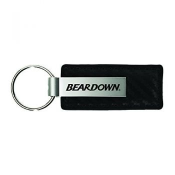 Arizona Wildcats-Carbon Fiber Leather and Metal Key Tag-Black