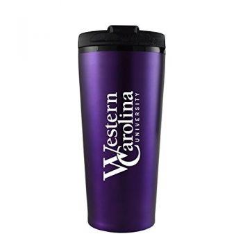 Western Carolina University -16 oz. Travel Mug Tumbler-Purple