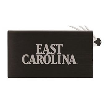 8000 mAh Portable Cell Phone Charger-East Carolina University-Black
