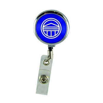 Longwood University-Retractable Badge Reel-Blue