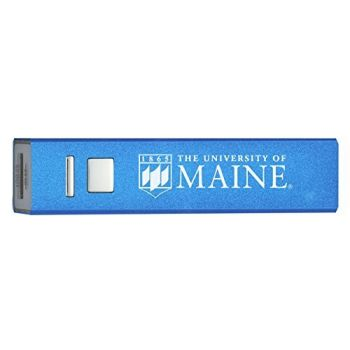University of Maine - Portable Cell Phone 2600 mAh Power Bank Charger - Blue