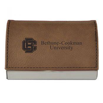 Velour Business Cardholder-Bethune-Cookman University-Brown