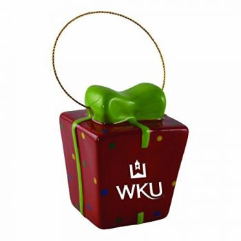 Western Kentucky University-3D Ceramic Gift Box Ornament