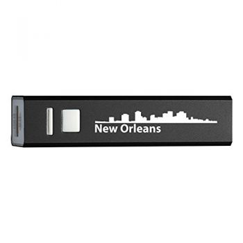 New Orleans, Louisiana-Portable 2600 mAh Cell Phone Charger-BLK