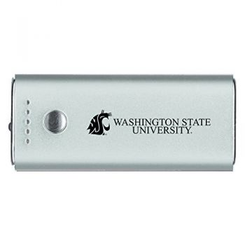Washington State University -Portable Cell Phone 5200 mAh Power Bank Charger -Silver