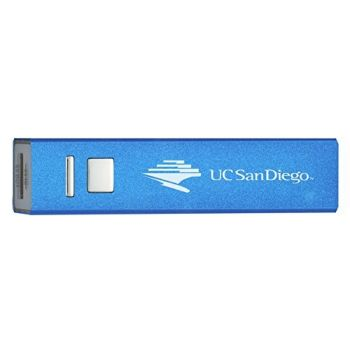 University of San Diego - Portable Cell Phone 2600 mAh Power Bank Charger - Blue