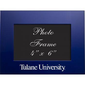 Tulane University - 4x6 Brushed Metal Picture Frame - Blue
