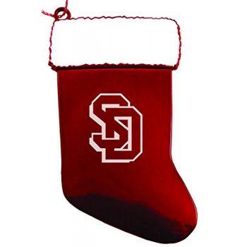 University of South Dakota - Christmas Holiday Stocking Ornament - Red