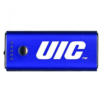 University of Illinois at Chicago-Portable Cell Phone 5200 mAh Power Bank Charger -Blue