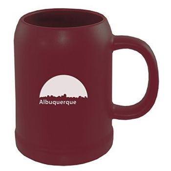 22 oz Ceramic Stein Coffee Mug - Albuquerque City Skyline