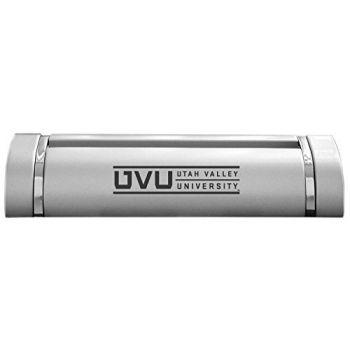 Utah Valley University-Desk Business Card Holder -Silver