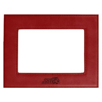 Jacksonville State University-Velour Picture Frame 4x6-Red
