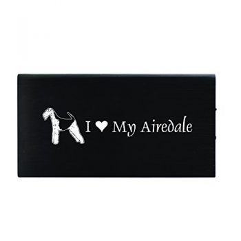 Quick Charge Portable Power Bank 8000 mAh  - I Love My Airedale