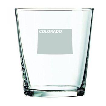 13 oz Cocktail Glass - Colorado State Outline - Colorado State Outline