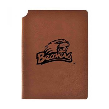 Oregon State University Velour Journal with Pen Holder|Carbon Etched|Officially Licensed Collegiate Journal|