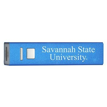 Savannah State University - Portable Cell Phone 2600 mAh Power Bank Charger - Blue