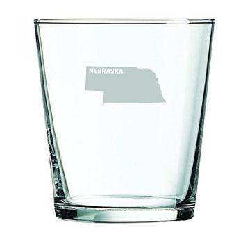 13 oz Cocktail Glass - Nebraska State Outline - Nebraska State Outline