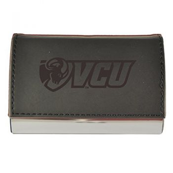 Velour Business Cardholder-Virginia Commonwealth University-Black