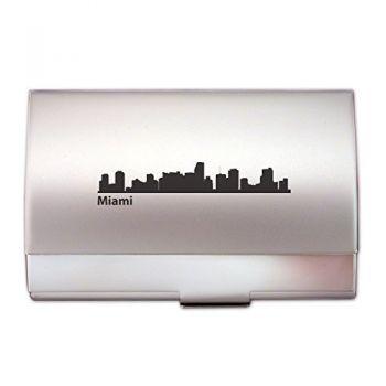 Business Card Holder Case - Miami City Skyline