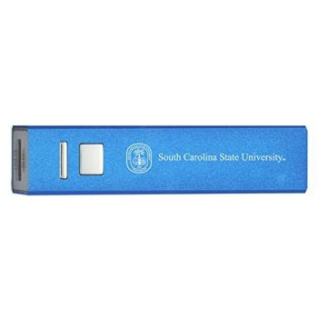 South Carolina State University - Portable Cell Phone 2600 mAh Power Bank Charger - Blue