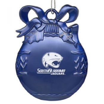 University of South Alabama - Pewter Christmas Tree Ornament - Blue