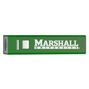 Marshall University - Portable Cell Phone 2600 mAh Power Bank Charger - Green